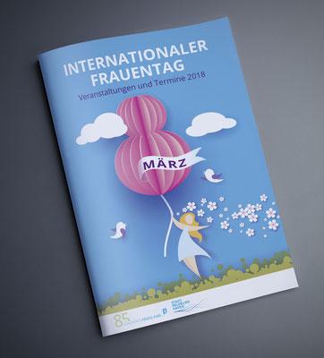 Kunde: Landkreis Friesland / Abteilung Frauenbeauftrage | Skills: Idee, Konzept, Grafik, Illustration sowie Umsetzung Broschüre zum Internationalen Frauentag 2018.