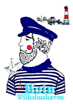 Illustration Cover Map Wilhelmshaven für die Wilhelmshaven Touristik & Freizeit GmbH