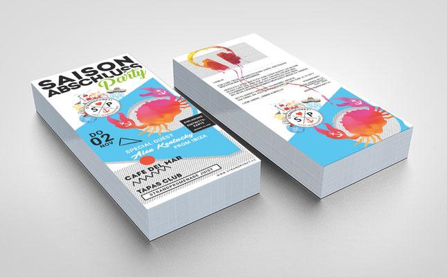 Kunde: Strandpunkt Juist | Skills: Idee, Konzept, Grafik, Layout, Illustration und Umsetzung Flyer DIN Lang.