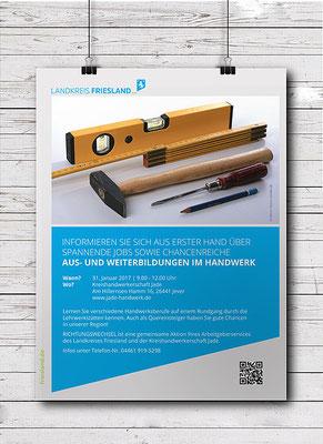 Kunde: Landkreis Friesland / Abteilung Jobcenter | Skills: Grafik, Texteinpassung, Umsetzung Plakat.
