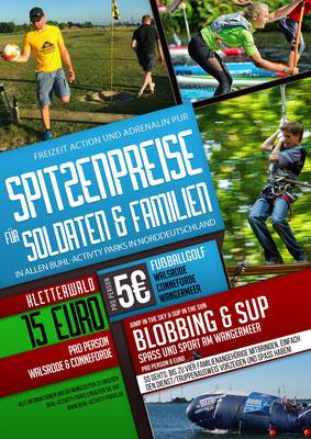 Kunde: Buhl Activity Parks GmbH | Skills: Idee, Konzept, Grafik, Illustration, Logo-Gestaltung, Umsetzung Plakat.