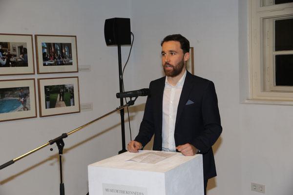 Begrüßung durch Felix Tauche (Museum THE KENNEDYS)