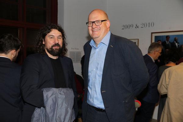 Prof. Martin Lüthe (FU Berlin) und Clemens Hoffmann (WDR Hörfunk)