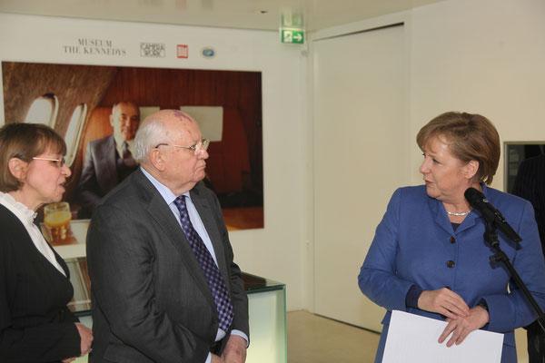 Michail Gorbatschow, Bundeskanzlerin Dr. Angela Merkel