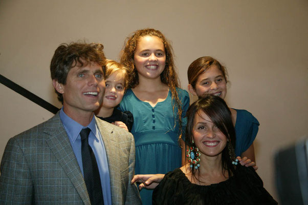 Anthony Kennedy Shriver and his wife Alina with their children