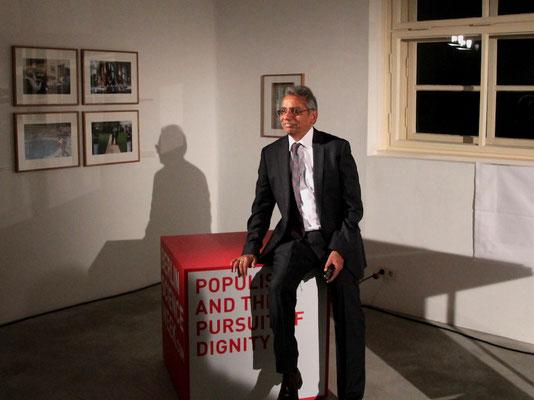 Prof. Dilip Gaonkar nach seinem Vortrag »Populism and the Pursuit of Dignity« im Rahmen der Berlin Science Week