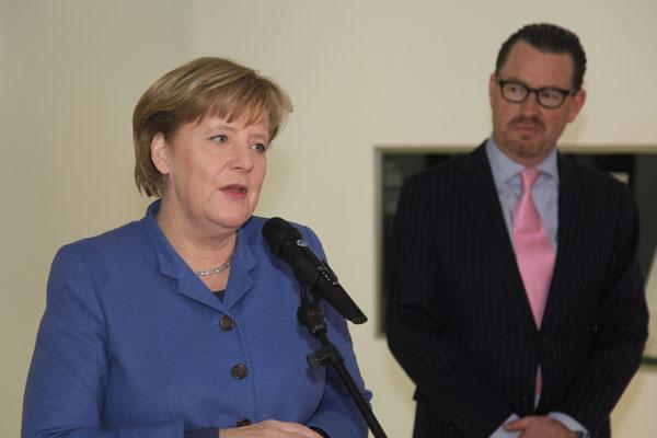Chancellor Dr. Angela Merkel, Kai Diekmann (Managing Editor BILD Zeitung)