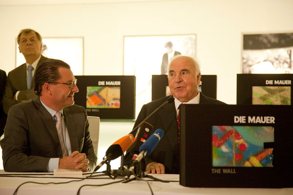 Kai Diekmann, former Chancellor Dr. Helmut Kohl (6th Chancellor of the Federal Republic of Germany between 1982–1998 )