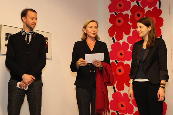 Jeremiah Tesolin (Marimekko), Ambassador of Finland Päivi Luostarinen, Alina Heinze (Director of the Museum THE KENNEDYS)