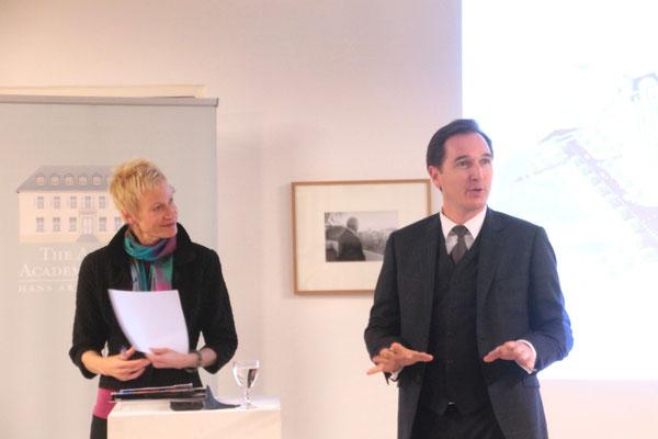 Christina Schwenkel and Christian U. Diehl, COO American Academy