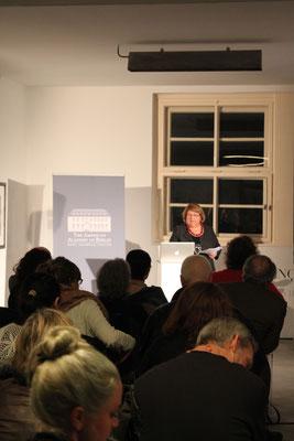 Prof. Aili Mari Tripp (University of Wisconsin) während ihres Vortrags »Frauenrechte: Gegensätze zwischen Maghreb und Mittleren Osten«