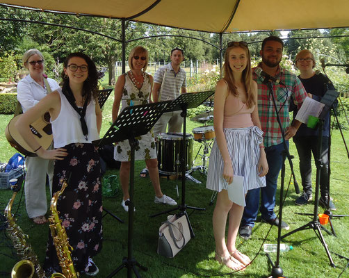 The band led our worship