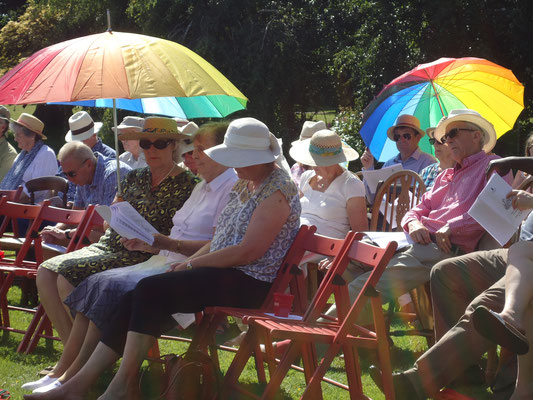 Enjoying the warm weather