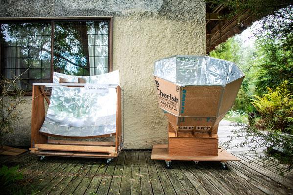 solar oven et solar cooker - four solaire et cuisson solaire