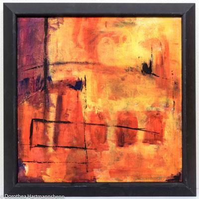60 x 60 / Acryl auf Leinwand + Rahmen