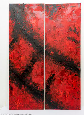 2 x 50x120 / Acryl auf Leinwand