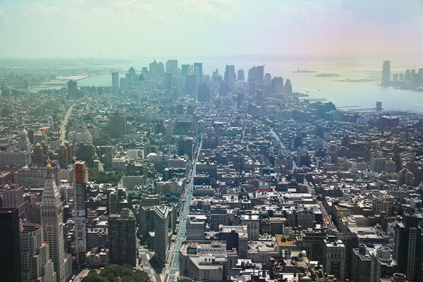 New York City - From Spire of Empire State Building