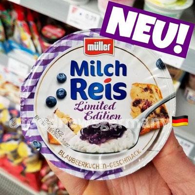 Müller Milchreis Blaubeerkuchen-Geschmack