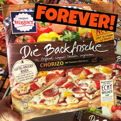 Original Wagner Pizza Die Backfrische