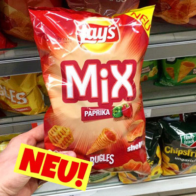 LAY'S MIX PAPRIKA Grids, Bugles, Shells