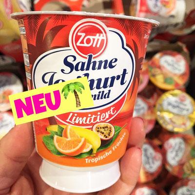 Zott Sahne Joghurt Tropische Früchte
