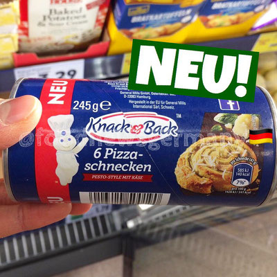 Knack & Back Pizza Schnecken Pesto Style mit Käse
