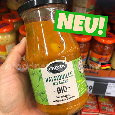 Qryza Bio-Gemüsesauce Ratatouille mit Curry