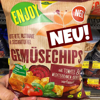 Kühne Gemüsechips Tomate & mediterrane Kräuter