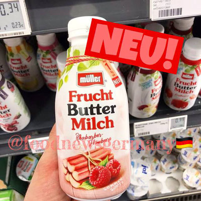 Müller Frucht Buttermilch Rhabarber Himbeere