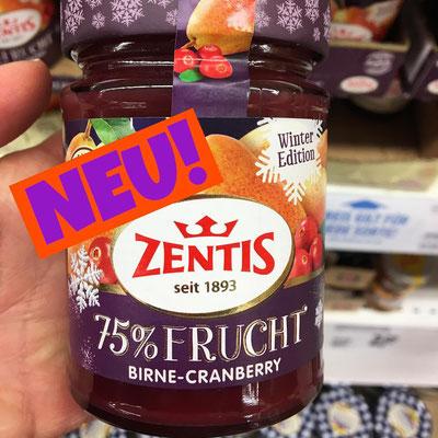 Zentis 75% Frucht Birne-Cranberry