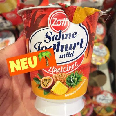 Zott Sahne Joghurt Ananas-Maracuja