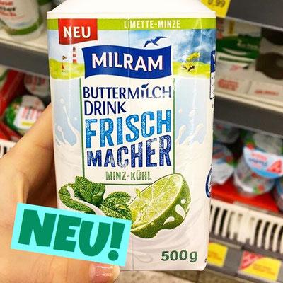 Milram Buttermilch Drink Frischmacher Minz-Kühl Limette Minze
