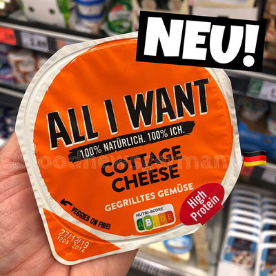"Danone ""All I want"" Cottage Cheese Gegrilltes Gemüse"