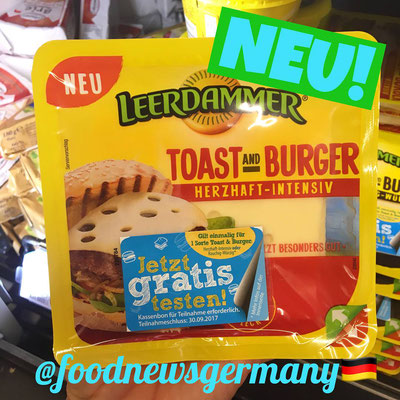 Leerdammer Käse Toast and Burger