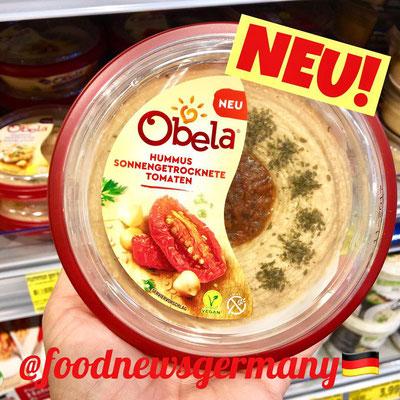 Obela Hummus mit sonnengetrockneten Tomaten