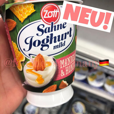 ZOTT SAHNE JOGHURT MANDEL & HONIG