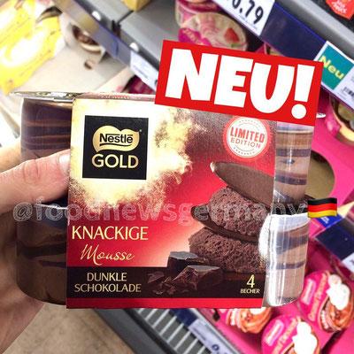 Nestle Gold Knackige Mousse Dunkle Schokolade
