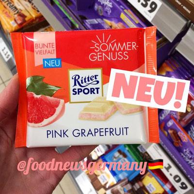 Ritter Sport Sommer Edition Pink Grapefruit