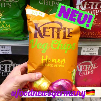 Kettle Veg Chips Honey & Black Pepper