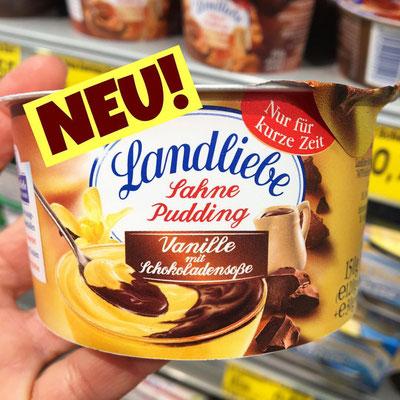 Landliebe Sahne Pudding Vanille mit Schokoladensoße