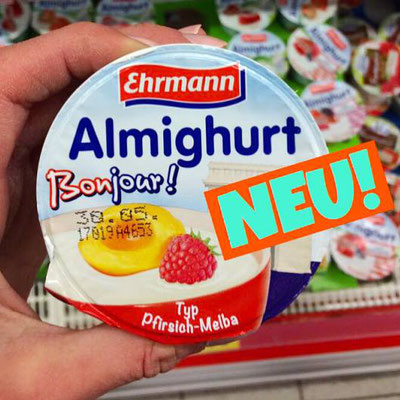 Ehrmann Almighurt Bonjour Pfirsich-Melba