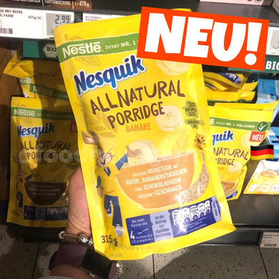 Nesquik All Natural Porridge