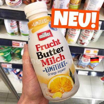 Müller Fruchtbuttermilch Orange-Ingwer