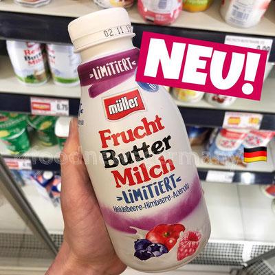 Müller Fruchtbuttermilch Heidelbeere-Himbeere-Acerola
