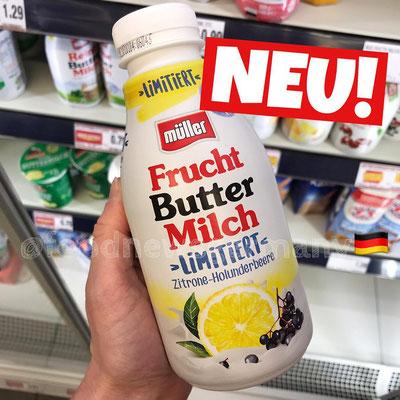 Müller Fruchtbuttermilch Zitrone-Holunderbeere