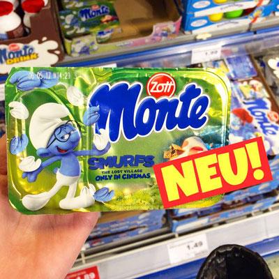 Zott Monte Smurf Schlümpfe