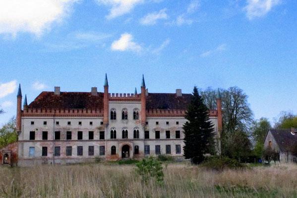Blick auf Schloss Broock