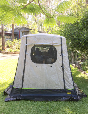 rear tent, as extra shelter for Hyundai Iload