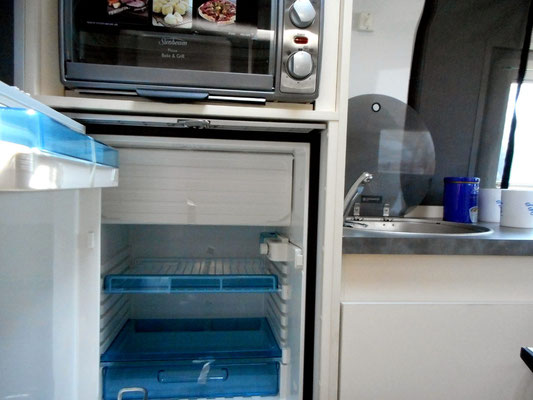elevated fridge for easier reach