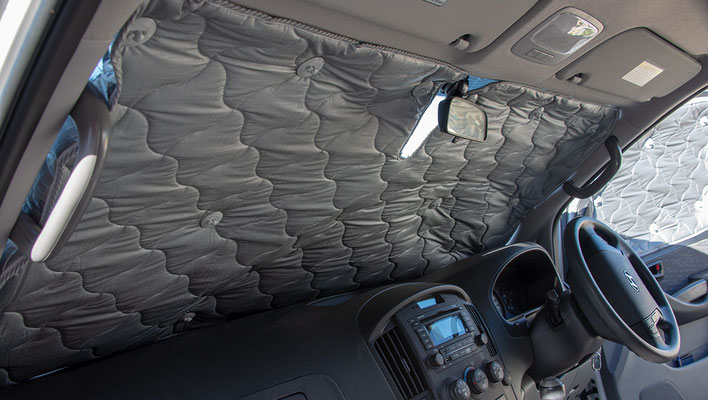 SOLARscreens for Gyundai Iload driver cabin